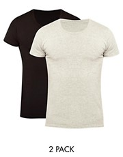 Jack &amp; Jones 2 Pack Simple O T-Shirt