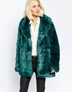Selected Bania Coat in Faux Fur
