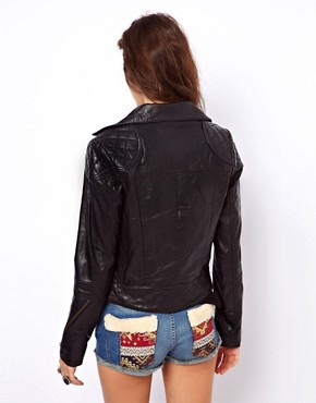 Image 2 of ASOS Leather Biker Jacket