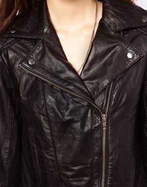 Image 3 ofASOS Leather Biker Jacket