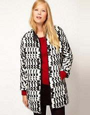 Vanessa Bruno Athé Coat in Wool Jaquard