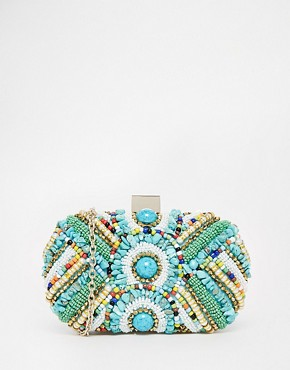 ALDO Bright Beaded Box Clutch