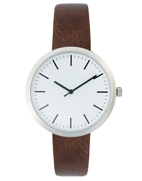 Image 1 ofRiver Island Minimal Brown Watch