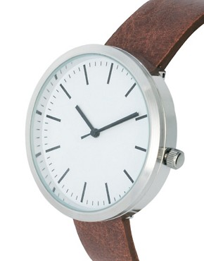 Image 3 ofRiver Island Minimal Brown Watch