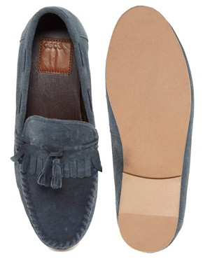 Image 3 ofASOS Tassel Loafers in Suede
