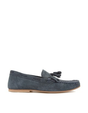 Image 4 ofASOS Tassel Loafers in Suede