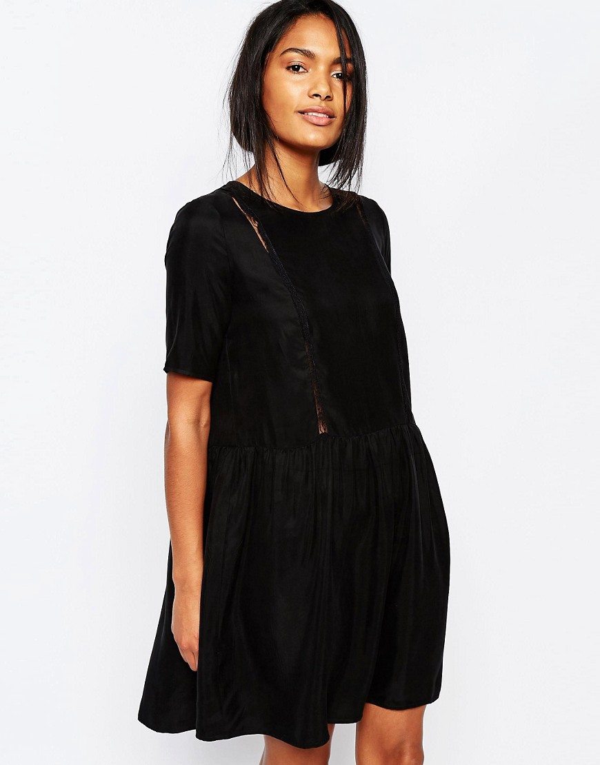 Y.A.S Crystal Smock Dress - Black