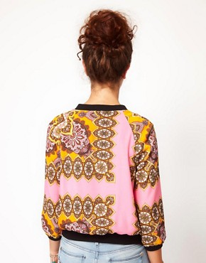 Image 2 ofRiver Island Scarf Print Bomber