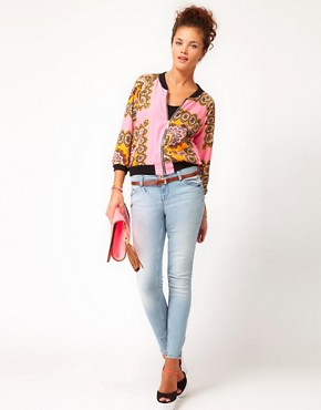 Image 4 ofRiver Island Scarf Print Bomber