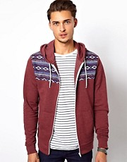 River Island Hoodie with Aztec Panel