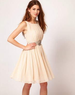 Image 1 ofLittle Mistress Embellished Waistband Dress