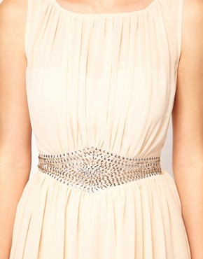 Image 3 ofLittle Mistress Embellished Waistband Dress