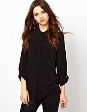 River Island Stud Collar Blouse