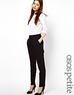 Image 1 ofASOS PETITE Basic Peg Trousers