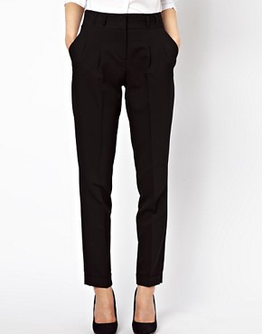 Image 4 ofASOS PETITE Basic Peg Trousers