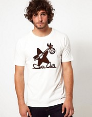 G Star Marc Newson T-Shirt Walking Star Print