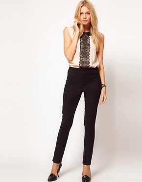 Image 1 ofOasis Leopard Jacquard Trouser