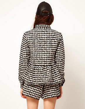 Image 2 ofASOS Africa Checked Shirt with Peplum