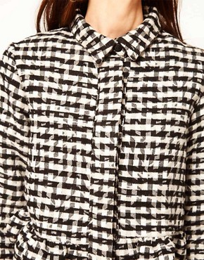 Image 3 ofASOS Africa Checked Shirt with Peplum