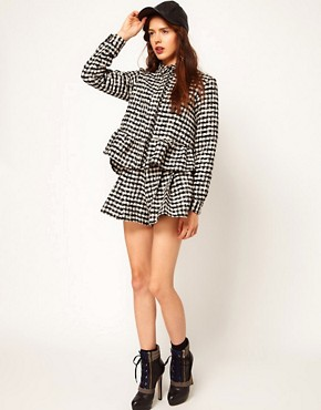 Image 1 ofASOS Africa Checked Shirt with Peplum