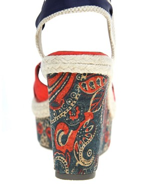 Image 2 ofASOS HAZEL Wedges with Paisley Print