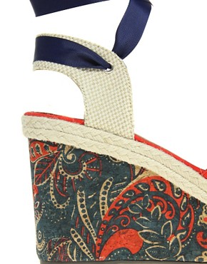 Image 3 ofASOS HAZEL Wedges with Paisley Print