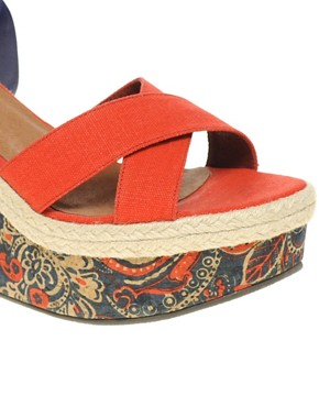 Image 4 ofASOS HAZEL Wedges with Paisley Print