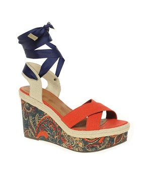 Image 1 ofASOS HAZEL Wedges with Paisley Print