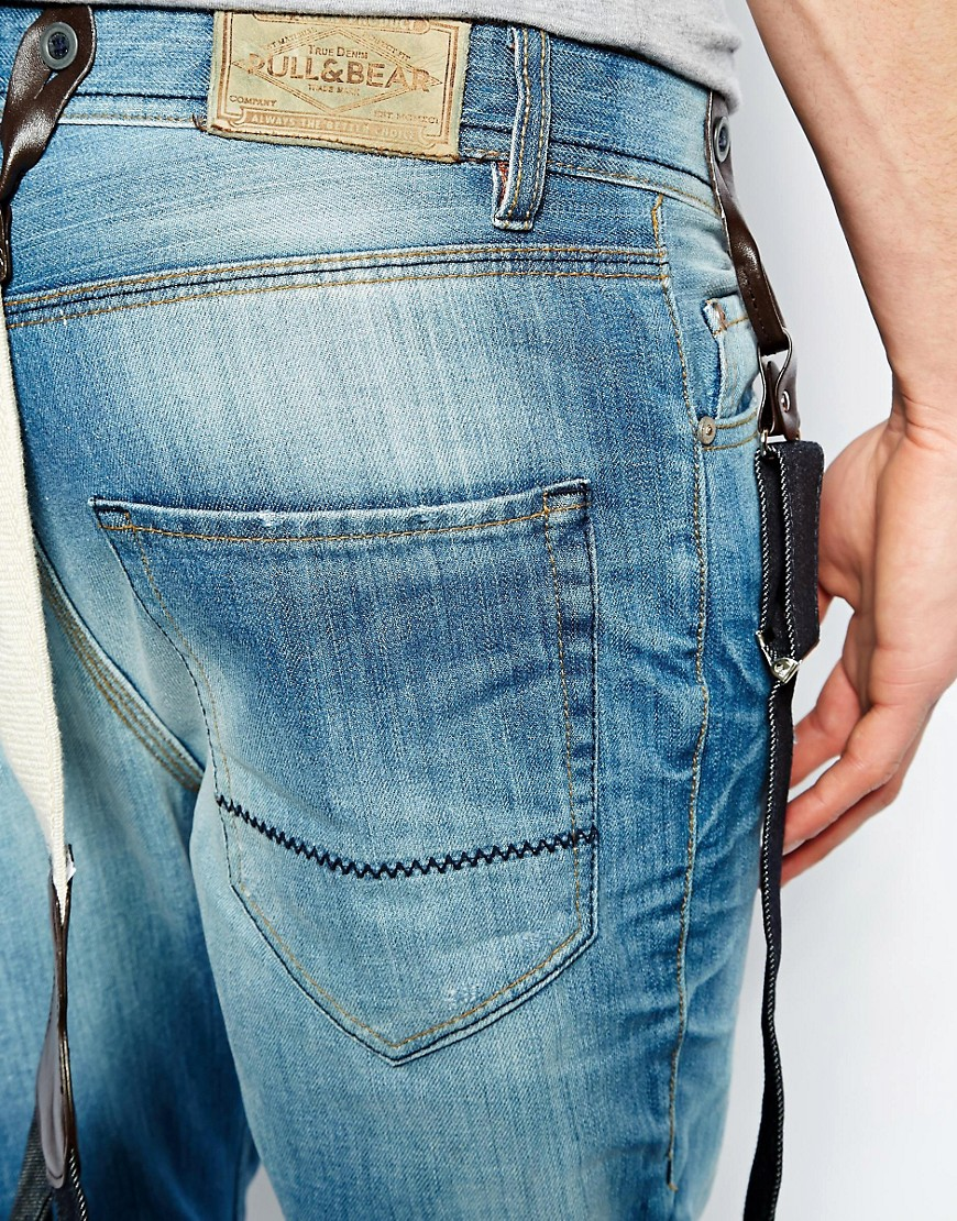 Image 4 ofPull&Bear Jeans with Braces