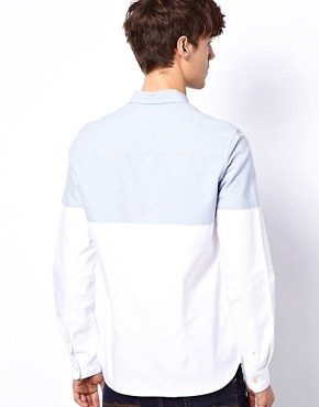 Image 2 ofASOS Oxford Shirt With Cut &amp; Sew