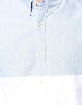 Image 3 ofASOS Oxford Shirt With Cut &amp; Sew
