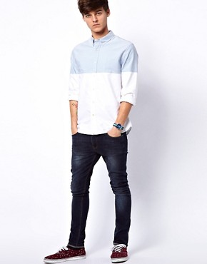 Image 4 ofASOS Oxford Shirt With Cut &amp; Sew