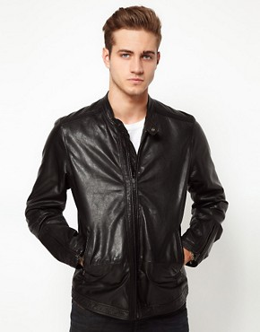 Image 1 ofDiesel Leather Biker Jacket Lagnum
