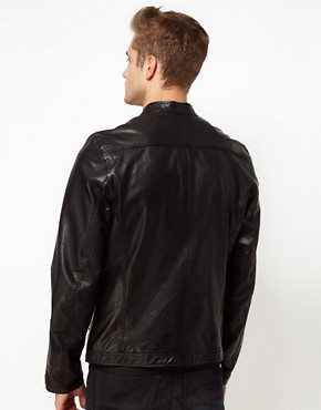 Image 2 ofDiesel Leather Biker Jacket Lagnum