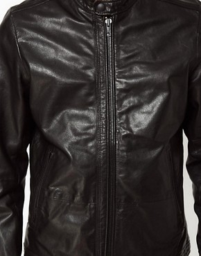 Image 3 ofDiesel Leather Biker Jacket Lagnum