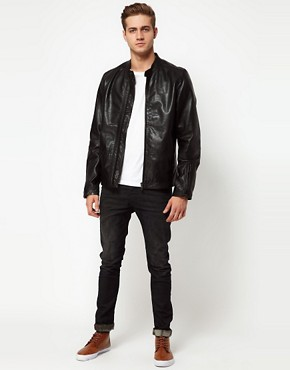 Image 4 ofDiesel Leather Biker Jacket Lagnum