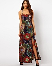 AX Paris Printed Maxi Dress With Thigh Split