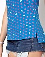 Image 3 ofA Wear Zip Back Tee In Lip Print