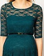 Image 3 ofASOS Maternity Lace Skater Dress With 3/4 Sleeve
