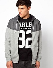 River Island Hoodie with Gray Yoke