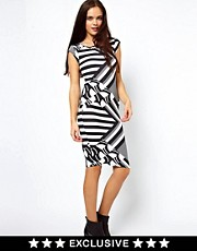 Vero Moda Cap Sleeve Geo Print Dress