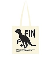 Borders & Frontiers  The End  Shopper-Tasche mit Dinosaurier-Druck