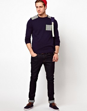 Image 4 of ASOS Patched Jumper