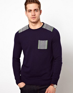 Image 1 of ASOS Patched Jumper