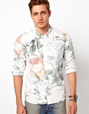 Image 1 ofASOS Shirt With Floral Print
