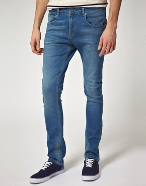 Image 1 ofASOS Mid Blue Super Skinny Jeans