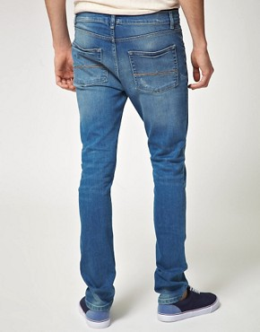 Image 2 ofASOS Mid Blue Super Skinny Jeans