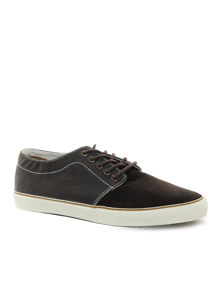 Image 1 of ASOS Plimsolls in Suede