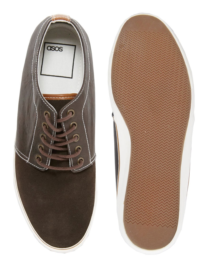 Image 3 of ASOS Plimsolls in Suede