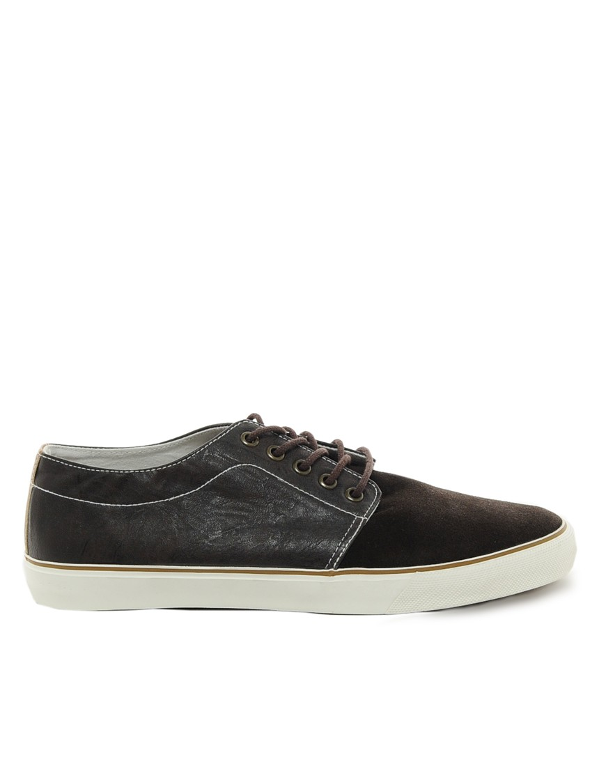 Image 4 of ASOS Plimsolls in Suede